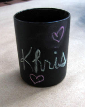 Project: Chalkboard Votive
