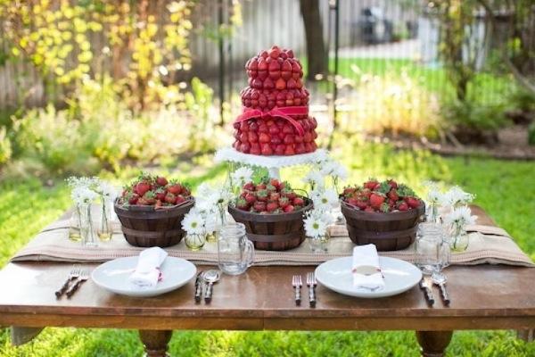 Strawberry Centerpiece from Tara Wilson