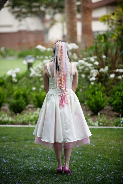 Mindy's Fairy Tale DIY Wedding + Ribbon Veil Tutorial