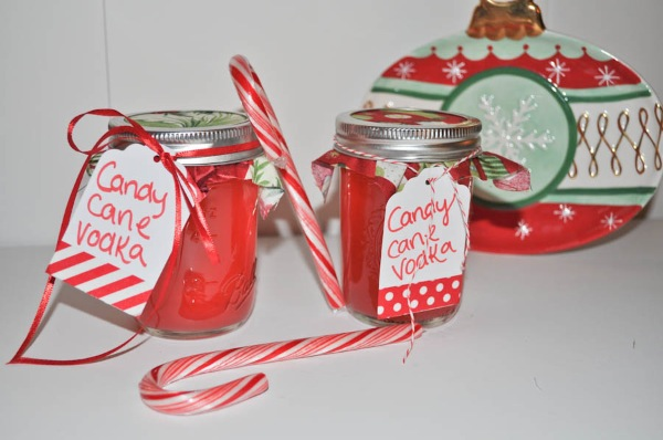 Infused Vodka Drink Favors with Holiday Flavors