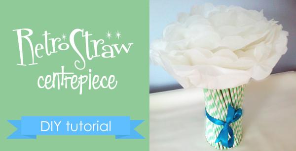 DIY Retro Straw Vase Centrepiece for Under $20