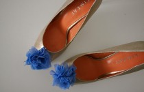 Tulle Flower Shoe Pins