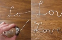 DIY Tutorial: Wire Love Necklace