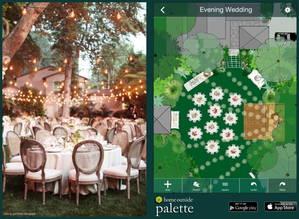 Design the perfect event with the home outside palette app for Home outside design app