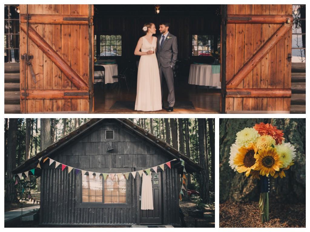 Tori and Nano's Rustic Wedding at Kitsap Memorial State Park