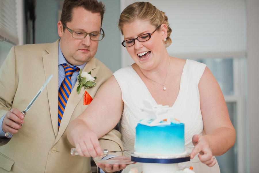 Carrie & John's Virginia Beach House Wedding