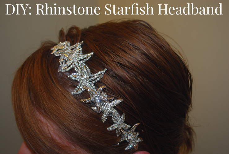 The DIY Rhinestone Starfish Bridal Headband