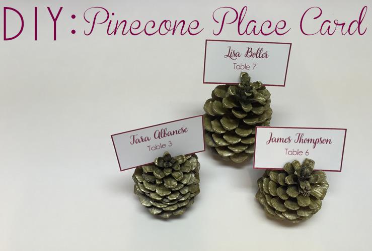 DIY: Pinecone Name Card Holders