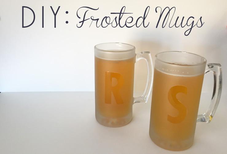 DIY: Frosted Mug Groomsmen Gift