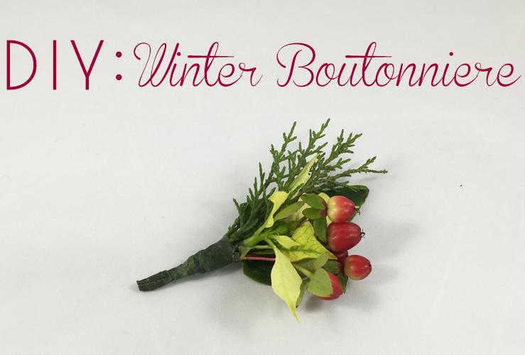DIY: Winter Boutonniere