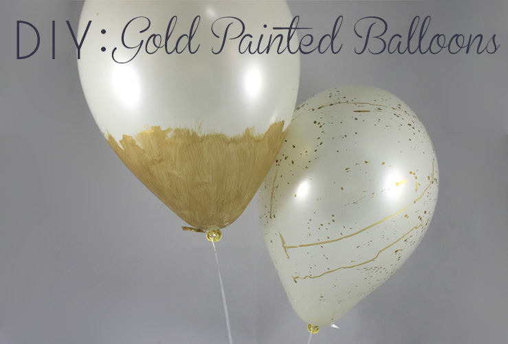 DIY: Gold Painted Balloons