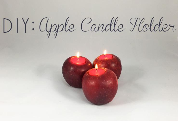 DIY: Apple Candle Holder