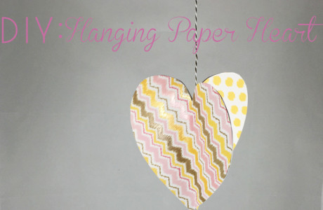 DIY: Hanging Paper Heart