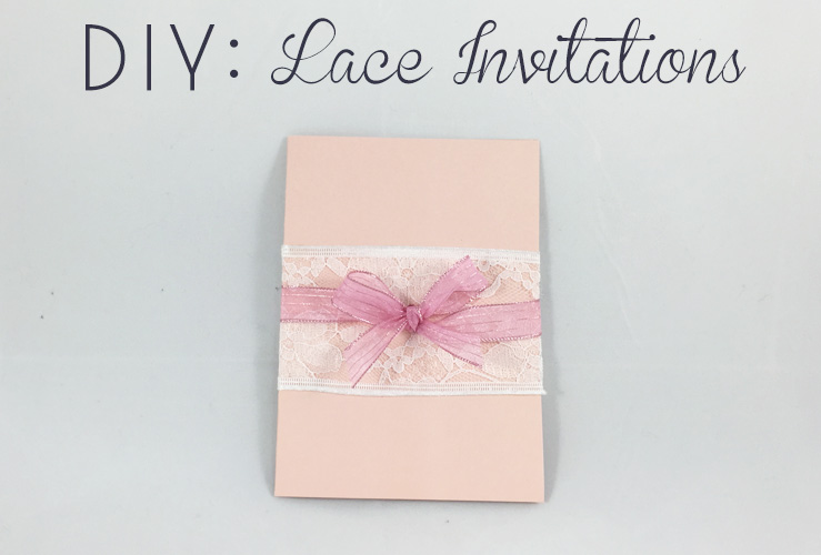 diy ribbon lace invitations diy bride