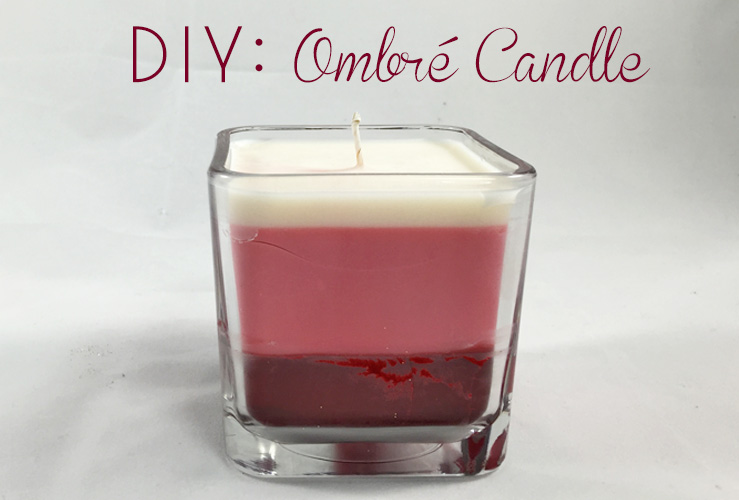 DIY: Ombré Candles
