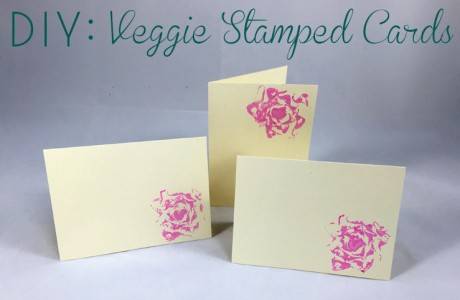 DIY: Vegetable Stamped Cards
