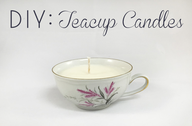 DIY: Teacup Candles