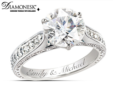 Engagement Ring Loves Perfection Personalized Diamonesk Engagement Ring