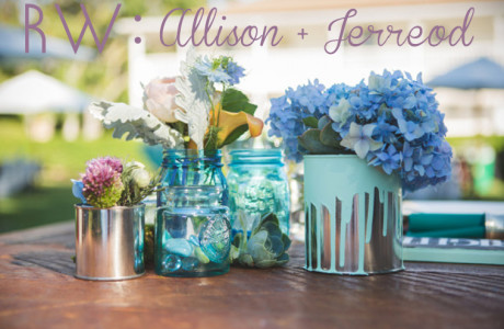 REAL WEDDING: Allison + Jerreod's Artistic Wedding