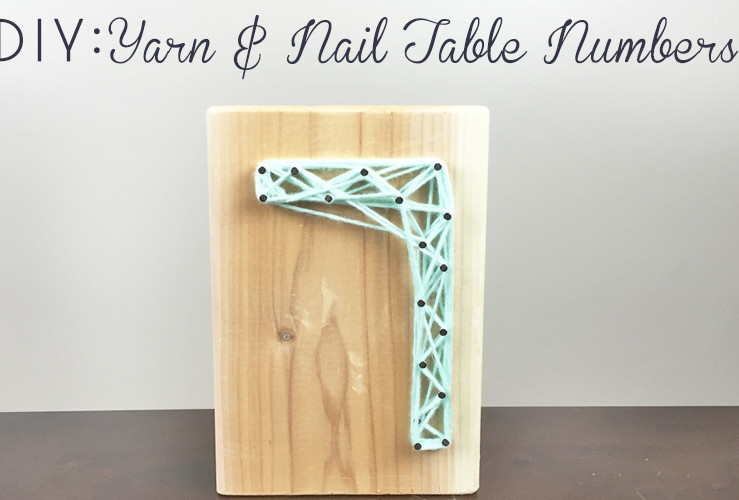 DIY: Yarn Table Numbers