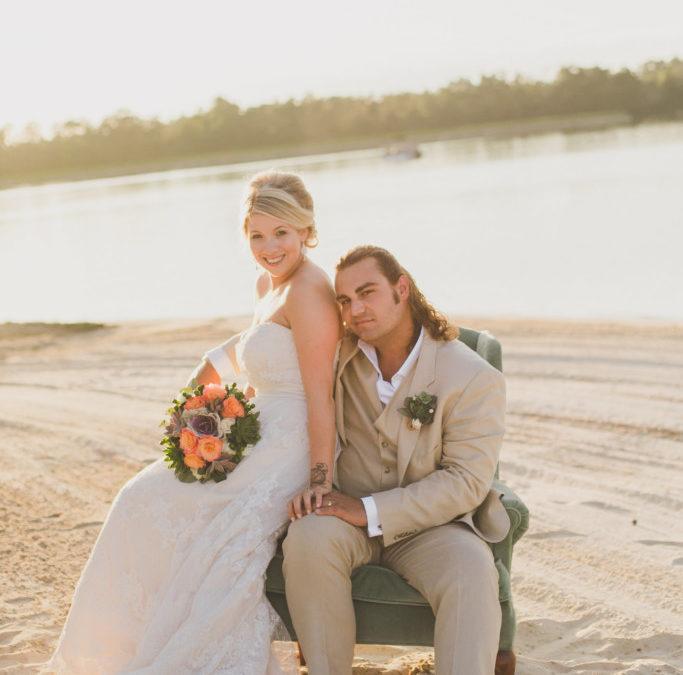 Real Wedding: Jessica + Joey David Lakeside Wedding